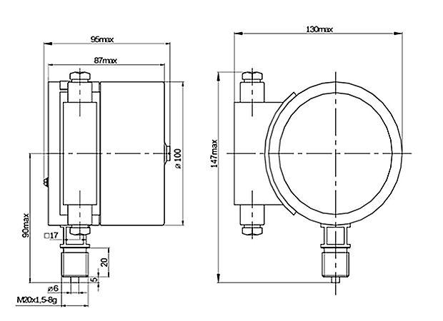 ДМ5010Сг0Ex - Схема внешних